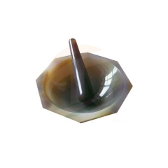 Hihg qality Natural Agate Mortar